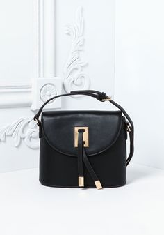 Plus Size Clothing | Leatherette Structured Crossbody Bag | www.Debshops.com