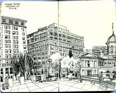 (above, sketch by Paul Heaston)