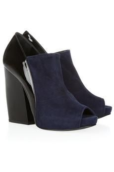 Pierre Hardy Glossed-leather and suede ankle boots