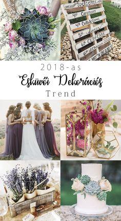 2018-as esküvői dekorációs trendek - Pink & White Blog | Ünnepek és Mindennapok Stílusosan Wedding Planning, Wedding Ideas, Special Events, Pink White, Bliss, Table Decorations, Bridal, Home Decor, Amor