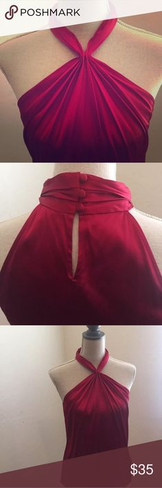 Ann Taylor wine red silk blouse 👚 Beautiful 100% silk blouse in great condition. Stretchy material Sz 4 silk 91% silk 9% spandex Ann Taylor Tops Blouses