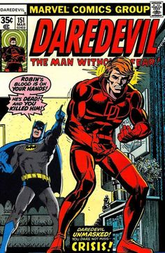 Daredevil Vol. 1 No. 151 1978 Daredevil Reveals His Identity to Heather Glenn by TheSamAntics Marvel Dc, Marvel Comics, Marvel Comic Books, Comic Book Heroes, Comic Books Art, Comic Superheroes, Marvel Heroes, Comic Book Artists, Comic Book Characters