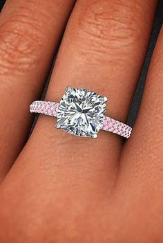 The Best Engagement Rings For Women In 2020 ★ engagement rings for women solitaire cushion cut gold pave band Wholesale Engagement Rings, Most Popular Engagement Rings, Vintage Engagement Rings, Unique Rings, Beautiful Rings, Beautiful Watches, Buy Diamond Ring, Diamond Gemstone, Black Diamond