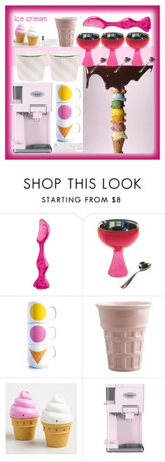 """""""Ice Cream"""" by marionmeyer ❤ liked on Polyvore featuring interior, interiors, interior design, home, home decor, interior decorating, Koziol, Alessi, Dot & Bo and Cost Plus World Market"""