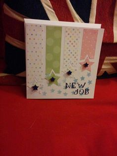 New job card Handmade Birthday Cards, Greeting Cards Handmade, Goodbye And Good Luck, Goodbye Cards, New Job Card, Best Wishes Card, Good Luck Cards, Make Your Own Card, Scrapbook Cards