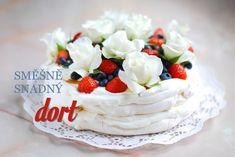 Tenhle jednoduchý dort Pavlova se skládá z pouhých tří surovin a chutná božsky. Krom toho ani nemusíte být zruční ve zdobení, aby i božsky vypadal. Pavlova Cake, Mini Pavlova, Best Cookie Recipes, Cake Recipes, Dessert Recipes, Oreo Cupcakes, Cupcake Cakes, My Dessert, Sweet Desserts