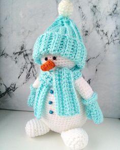 Amigurumi snowman pattern #amigurumi #amigurumipattern #crochettoy #crochetsnowman  #crochetpattern #amigurumisnowman  #freeamigurumipattern #amigurumiChristmas