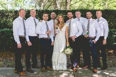 Designer/Planner: Dandy Details Events Bride with Groomsmen Photo