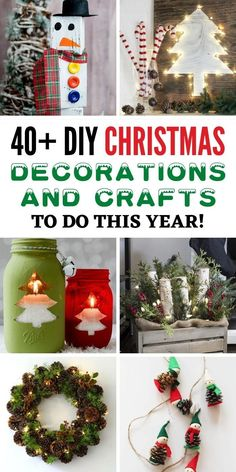 Christmas is coming soon, and it's also the time to get creative. If you're looking to decorate your home and you're out of ideas, we're here to help. Whether it's small decorations you're looking to make, or if you're feeling a bit more creative and want to try some larger projects. Here are 40+ DIY Christmas decorations and Crafts you can try to do this year. #christmas #diychristmas #christmasdecorations #christmascrafts Christmas Origami, Christmas Crafts, Christmas Decorations, Holiday Decor, Easy Diy Crafts, Crafts To Do, Decor Crafts, Cool Diy Projects, Garden Projects
