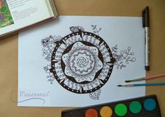 Printable mandala adult coloring. Relax and have fun! Free download.