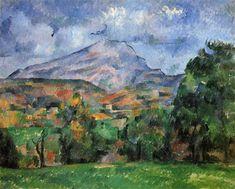 Mont Sainte-Victoire - Artist: Paul Cezanne Completion Date: c.1890 Style: Post-Impressionism Period: Mature period Genre: landscape Technique: oil Material: canvas Dimensions: 65 x 81 cm Gallery: Private Collection