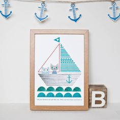 Personalised Birthday Sailboat Print