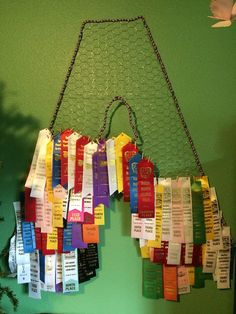 Ribbon display ribbon hanger ribbon holder medal hanger by WireWiz Award Ribbon Display, Horse Ribbon Display, Horse Show Ribbons, Award Display, Display Ideas, Display Case, Swim Ribbons, Ribbon Crafts, Horses