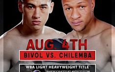 Watch Dmitry Bivol vs Isaac Chilemba Live Streaming free on HBO Boxing online  at Atlantic City, New Jersey, U.S.  Bivol vs Chilemba Boxing fight will be kick of Saturday 4 August 2018, Time  10pm ET.  Welcome to watch Dmitry Bivol vs Isaac Chilemba Live Stream online on your pc/laptop, mac, ipad. Do not wait to access this HD link, when the Dmitry Bivol vs Isaac Chilemba is mostly over and you will get live stream, scores, results and highlights.