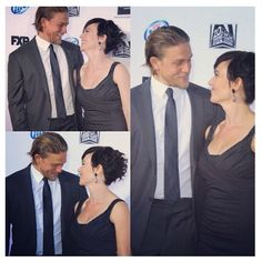 Jax and Tara Teller... Sons of anarchy. Soa Charlie Hunnam and Maggie...