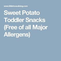 Sweet Potato Toddler Snacks (Free of all Major Allergens)
