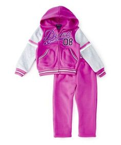 Purple 'Diva' Zip-Up Hoodie & Pants - Infant, Toddler & Girls
