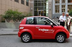 The Think City electric vehicle...