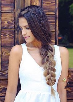 Another Gorgeous Hairstyle by @karindragos wearing her Dirty Blonde Luxy Hair to add to her ombre hair color!   Photo By: https://instagram.com/p/6QLtZZG6C8/?taken-by=karindragos  #LuxyHair #OmbreHairstyles #SummerBraid