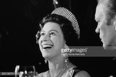 Stock Photo : As part of the celebration of the United States Bicentennial festivities  Queen Elizabeth II of Great Britain visited the White House in Washington, DC. Former U.S. President Gerald R. Ford (r) also attended.