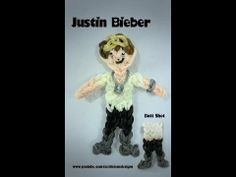 Rainbow Loom JUSTIN BIEBER Figure. Designed and loomed by Kate Schultz of Izzalicious Designs. Click photo for YouTube tutorial. 04/05/14