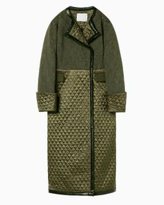 Victorian Pattern Quilting Coat - khaki Victorian Pattern, Raincoats For Women, Winter Fashion, Womens Fashion, Jackets, Outfits, Envy, Style, Crochet