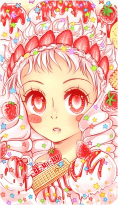 Strawberry Sundae by oceantann.deviantart.com on @DeviantArt