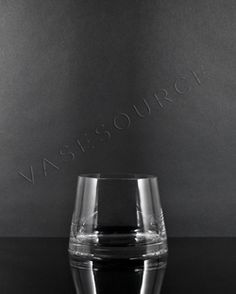 """Item #RTR404 - 4"""" H x 3.5"""" x 4.5"""" Clear Reverse Tapered Glass Cylinder"""