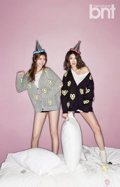 After School's E-young and Ka Eun Have an Interview and Photoshoot with bnt International