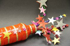 Fireworks craft - you'll need an empty bottle, pipe cleaners and foam stars. Decorate as you like!