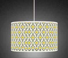 30cm Yellow Mustard Grey Retro Geometric Handmade Giclee Style Printed Fabric Lamp Drum Lampshade Floor or Ceiling Pendant Light Shade 461 Ark House http://www.amazon.co.uk/dp/B00O0BYFVA/ref=cm_sw_r_pi_dp_qtKsvb0HGC7QS