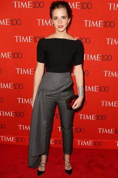 emma watson lors de la soirée du 'time' à new york, le 21 avril 2015