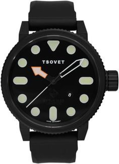TSOVET [USA] Aviator SVT-NM85 Watch Ref: NM331010-01, Black PVD S/S 50mm Case BN | 20% SALE for 48hrs only on all TSOVET watches & accesories [straps, buckles, pins, etc.]