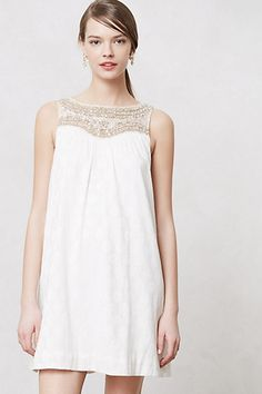 Brides! This dress would be sooo sweet for an engagement shoot or! an exiting dress! Graced Swing Dress #anthropologie