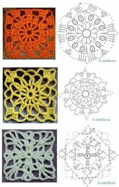 Crochet beautiful and openwork swimsuit. Free patterns for crochet swimsuit Granny Square Crochet Pattern, Crochet Diagram, Crochet Chart, Crochet Squares, Crochet Granny, Crochet Motif, Crochet Doilies, Crochet Stitches, Granny Squares