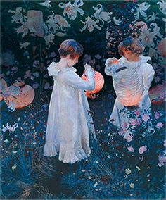 Hilary Sloane's remix of John Singer Sargent, Carnation, Lily, Lily, Rose 1885–6. Take part in our 1840s GIF Party at Tate Britain by submitting your own GIF inspired by this artwork.