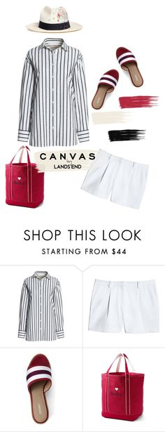 """""""Paint Your Look With Canvas by Lands' End: Contest Entry"""" by dianefantasy ❤ liked on Polyvore featuring Canvas by Lands' End, Lands' End, Sensi Studio and polyvoreeditorial"""