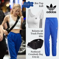 Korean Airport Fashion, Korean Girl Fashion, Blackpink Fashion, Kpop Fashion Outfits, Sporty Outfits, Celebrity Outfits, Stage Outfits, Korean Outfits, Cute Casual Outfits