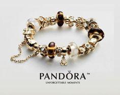 Pandora gold bracelett to die for