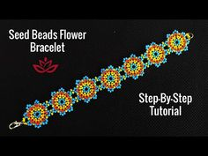 Seed Beads Flowers Bracelet - Tutorial. How to make DIY beaded bracelet? - YouTube