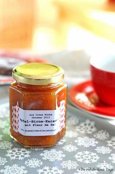 Apfel-Birnen-Karamell-Marmelade mit Fleur de Sel