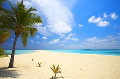 Infinity tropical beach