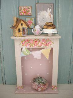 Shabby Chic Dollhouse Miniature  Victorian by cinderellamoments, $59.00