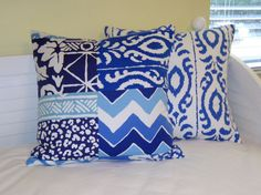 Listing is for 2 pillow covers - 1 Parish Patch and 1 Madagascar. Please select your size when placing order or contact me for custom sizes.  New