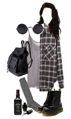 """effy stonem"" by justkatieagain ❤ liked on Polyvore featuring Enza Costa, R13, Nordstrom, Dr. Martens, Wet Seal, Barry M and Pieces"