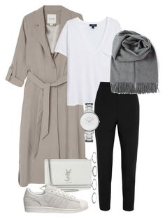 """""""#679"""" by blendingtwostyles ❤ liked on Polyvore featuring Monki, MANGO, Dolce&Gabbana, Yves Saint Laurent, Skagen, Acne Studios and adidas"""