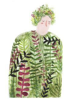 Lizzy Stewart's Charming Folk Art Inspired Illustrations   Beautiful/Decay Artist & Design