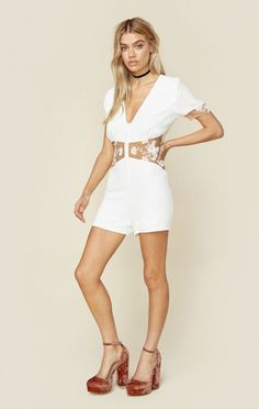 For Love And Lemons Clothing Rompers & Jumpsuits Rompers Elenora Romper