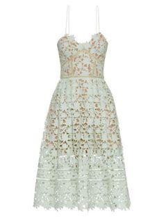 Azaelea lace midi dress | Self-portrait | MATCHESFASHION.COM US
