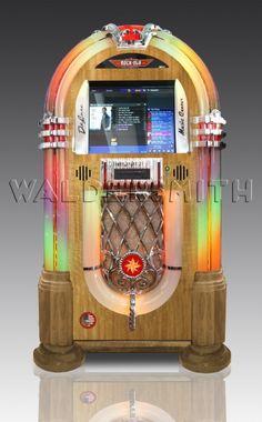 Rock-Ola Bubbler Digital Music Center Jukebox - Light Oak